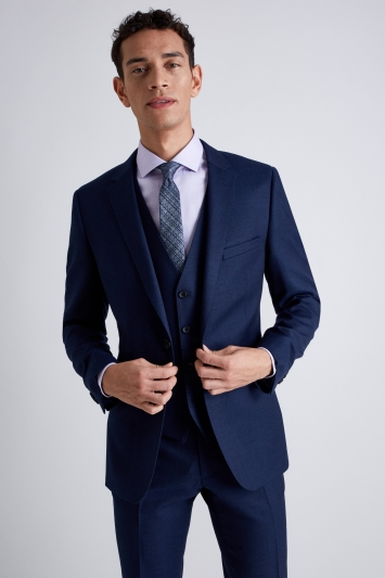 French Connection Slim Fit Bright Blue Milled Jacket