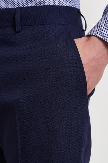 Moss 1851 Tailored Fit Navy Birdseye Trousers