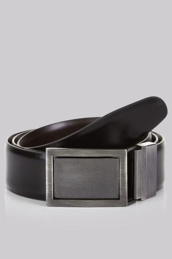 Moss 1851 Black/Brown 4 in 1 Bonded Leather Reversible Belt