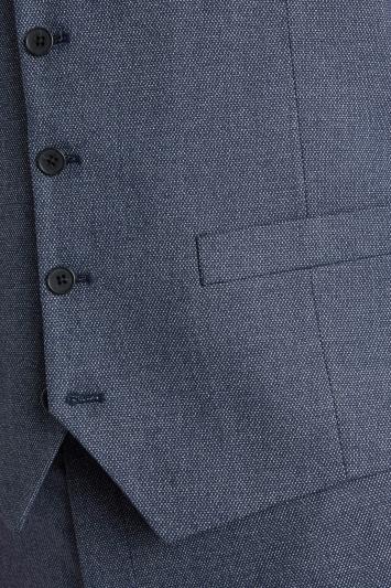 Moss 1851 Tailored Fit Navy Salt & Pepper Waistcoat