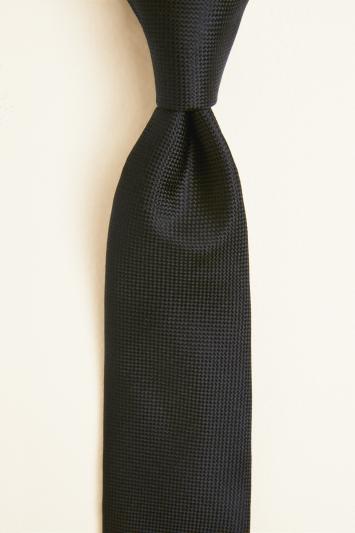 Black Natte Silk Tie