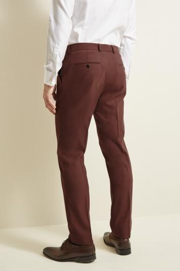 Moss London Skinny/Slim Fit Copper Lightweight Trousers