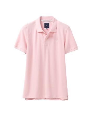 Crew Clothing Pink Melbury Polo