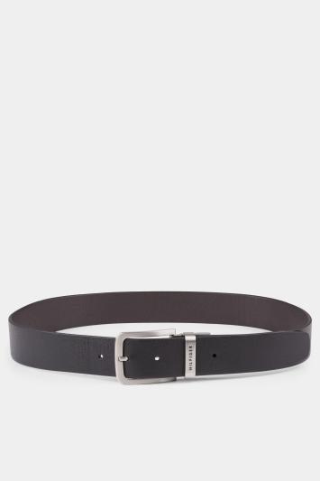 Tommy Hilfiger Loop Black/Brown Reversible 3.5cm Belt