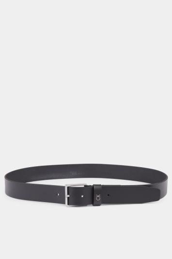 Calvin Klein Black with CK Branded Keeper Formal Belt