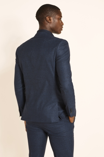 Slim Fit Royal Blue Flannel Jacket
