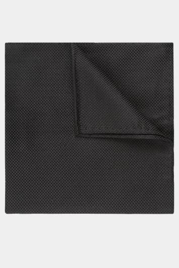 Moss Esq. Black Textured Natte Pocket Square