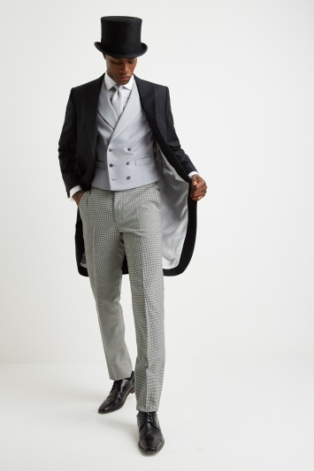Moss Covent Garden Tailored Fit Grey Double Breasted Waistcoat