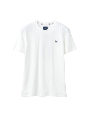 Crew Clothing White Round Neck Tee
