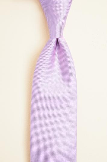 Moss 1851 Pink Plain Natte Silk Tie