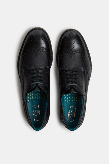 Ted Baker Senape Black Brogue Derby Shoe