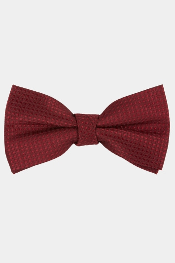 Moss 1851 Wine Diamond Texture Bow Tie