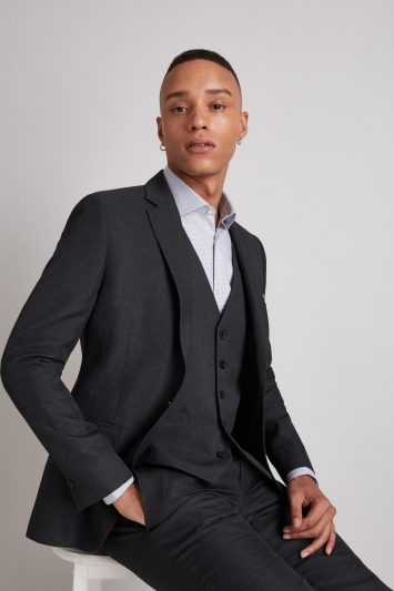Moss London Skinny Fit Charcoal Jacket