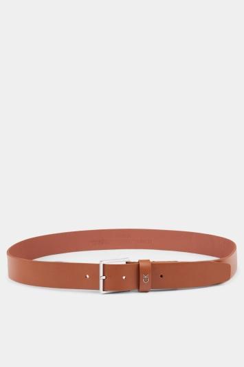 Calvin Klein Cognac Brown 3.5cm Formal Belt