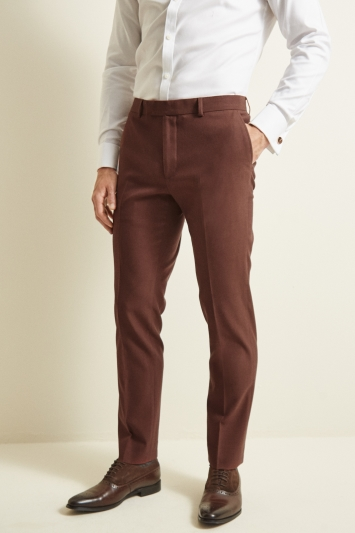 Moss London Skinny/Slim Fit Copper Lightweight Trousers
