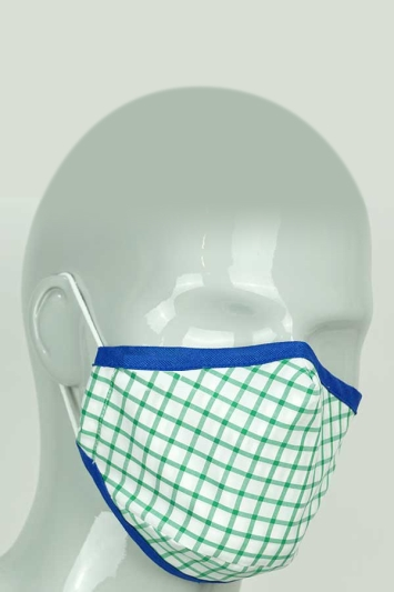 Moss Green Check Mask