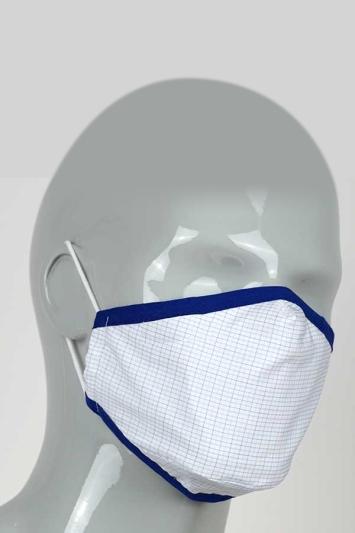 Moss Micro-Check Mask