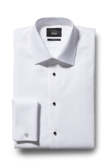 Tailored Fit White Marcella Dress Shirt