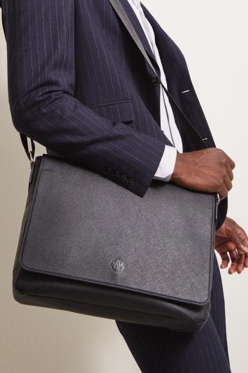 Moss 1851 Black Saffiano Messenger Bag