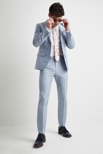 French Connection Powder Blue Marl Tailored Fit Jacket