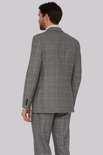 Savoy Taylors Guild Regular Fit Black and White Check Jacket