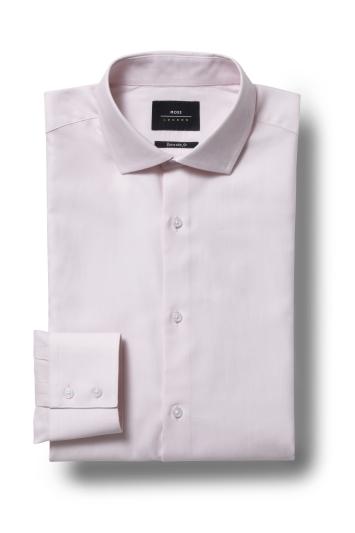 Moss London Premium Extra Slim Fit Pink Single Cuff Dress Shirt