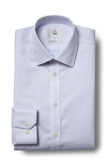 Moss 1851 Tailored Fit Sky Single Cuff Dobby Spot Zero Iron Shirt