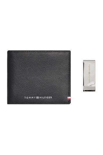 Tommy Hilfiger Black Business Mini Wallet & Clip Giftbox