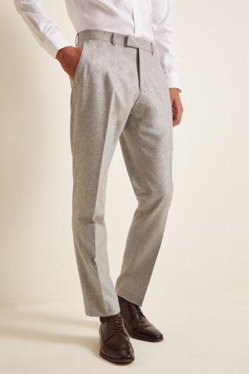 Barberis Tailored Fit Light Grey Flannel Jacket