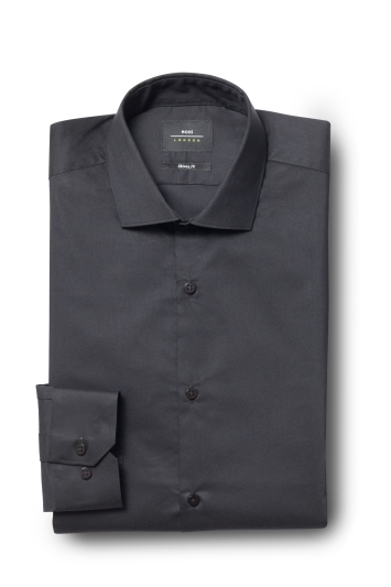 Slim Fit Black Stretch Shirt