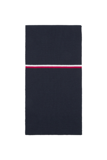 Tommy Hilfiger Navy Horizontal CP Stripe Scarf