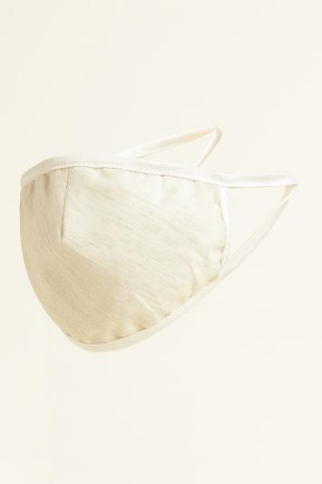 Light Grey Plain Chambray Cotton Mask