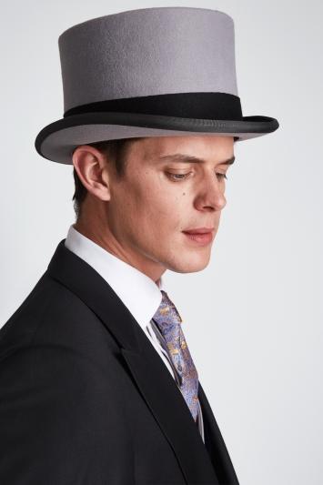 Grey Ascot Fur Top Hat