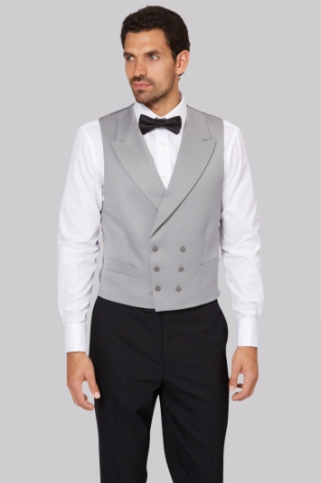 Moss Bros Covent Garden Tailored Dove Grey Fit Double Breasted Wais...