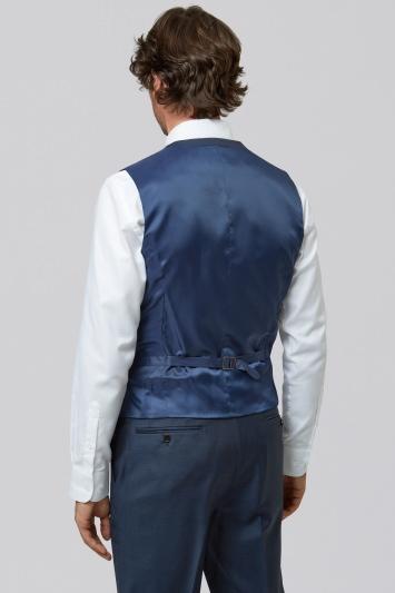 Lanificio F.lli Cerruti Dal 1881 Cloth Tailored Fit Indigo Waistcoat