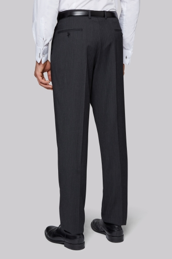 Regular Fit Charcoal Trousers