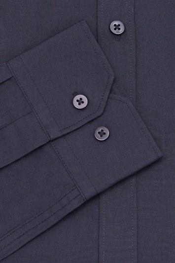 Moss London Extra Slim Fit Black Single Cuff Shirt