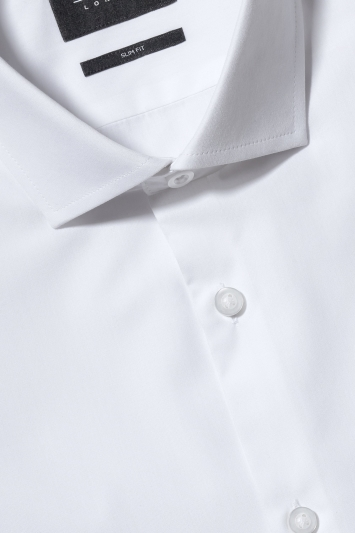 Slim Fit White Double Cuff Shirt