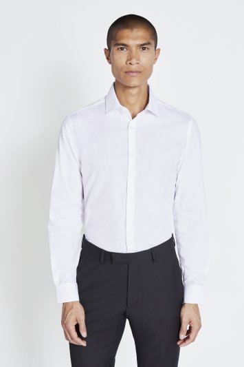 Slim Fit White Easy Care Shirt