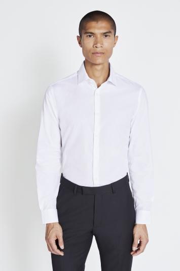 Slim Fit White Easy Care Shirt