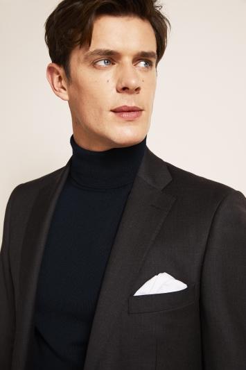 Savoy Taylors Guild Regular Fit Charcoal Jacket