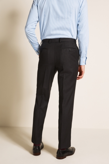 Savoy Taylors Guild Regular Fit Charcoal Trousers