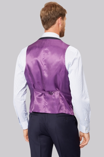 Savoy Taylors Guild Regular Fit Navy Waistcoat