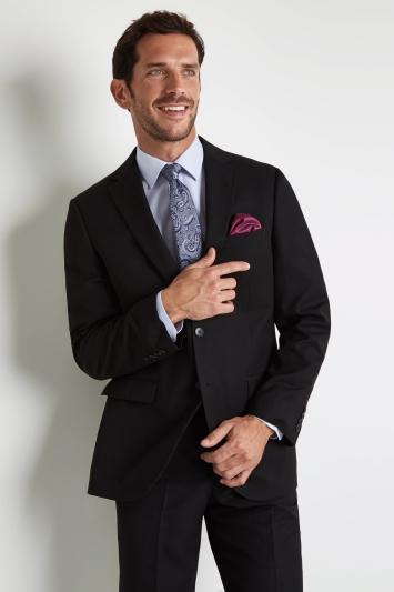 Moss Esq. Regular Fit Black Notch Lapel Suit Jacket