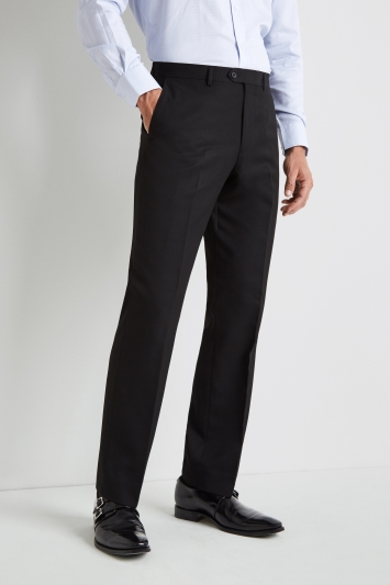 Moss Esq. Regular Fit Black Trousers