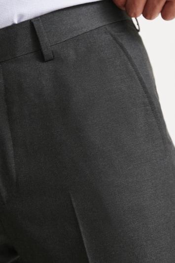 Moss Esq. Regular Fit Charcoal Trousers
