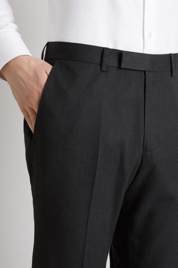 Moss Esq. Regular Fit Machine Washable Charcoal Trousers