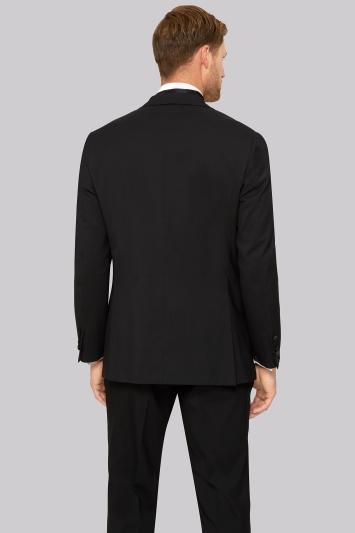 Moss Esq. Regular Fit Black Peak Lapel Tuxedo Jacket