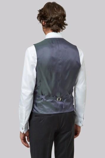 Moss 1851 Tailored Fit Black Waistcoat