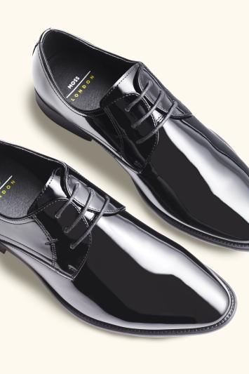 Moss London Black Patent Dress Shoe
